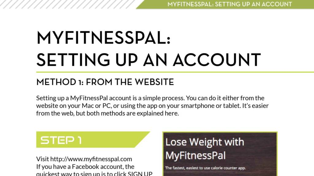 MyFitnessPal Guide