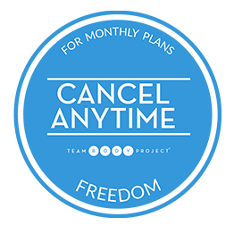 cancel anytime month blue