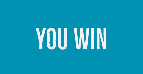 You're a winner!